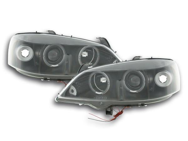 headlight Opel Astra G Yr. 98-03 black