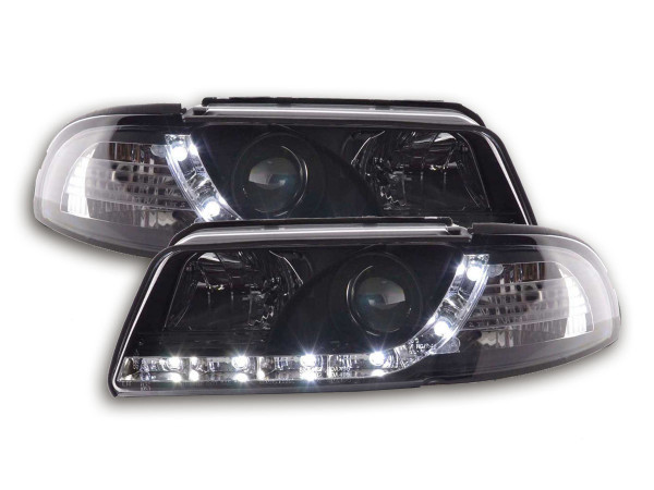 Daylight headlight Audi A4 type B5 Yr. 99-01 black