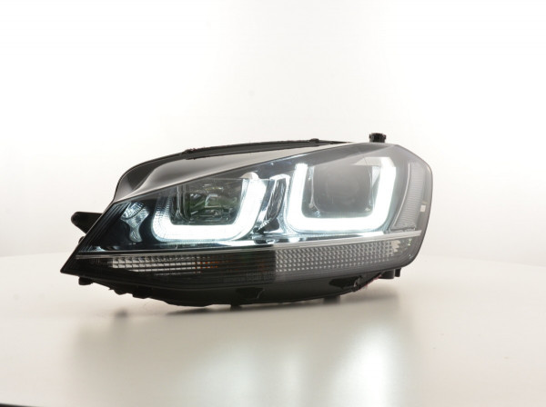 Daytime running lights headlight Daylight VW Golf 7 Yr. from 2012 black/chrome