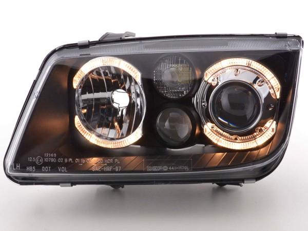 Angel Eye headlight VW Bora type 1J Yr. 98-04 black
