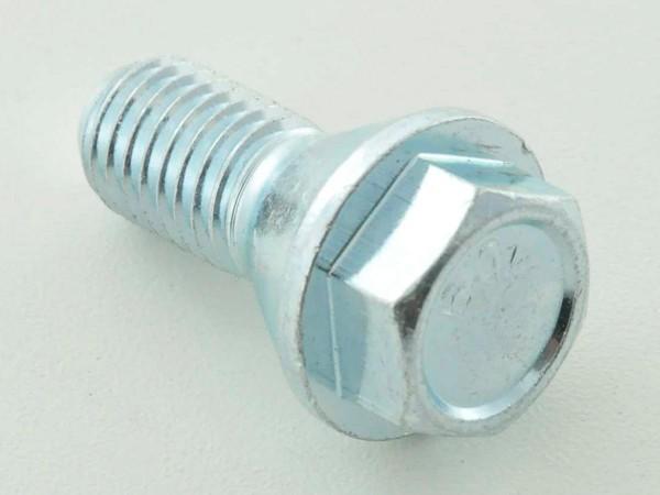 Wheel bolts Set (8 pieces), M12 x 1,5 26mm short head silver