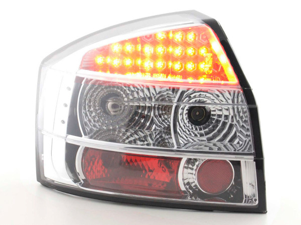 Led Taillights Audi A4 Typ 8E Yr. 01-03 chrome