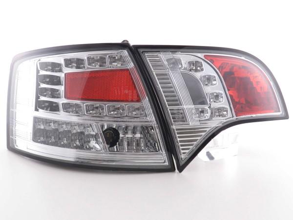 Led Taillights Audi A4 Avant type 8E Yr. 04-08 chrome