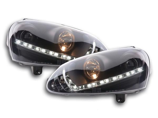 Daytime running lights headlight Daylight VW Golf 5 Yr. 03-08 black