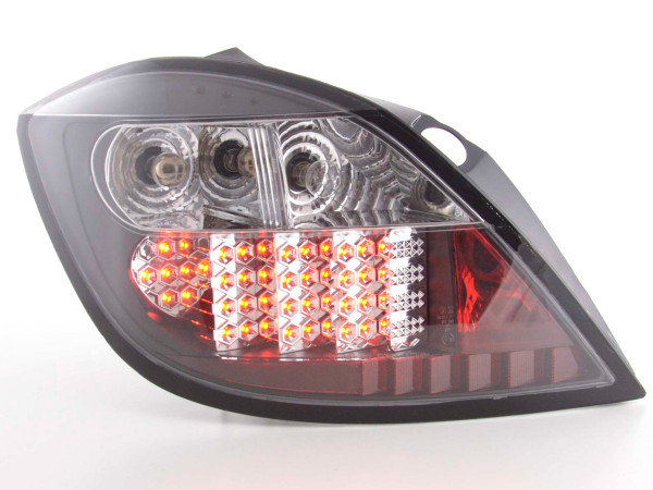 Led Taillights Opel Astra H 5-dr Yr. 04- black