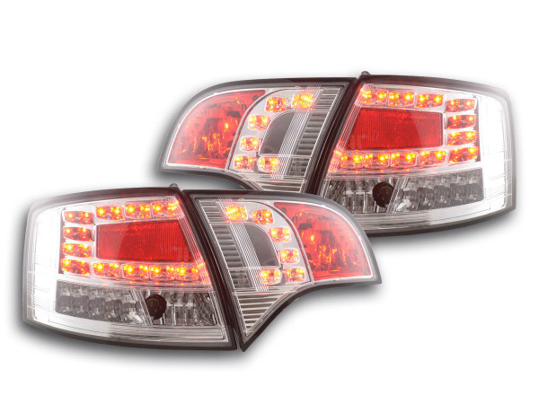 Led Taillights Audi A4 Avant type 8E Yr. 04-08 chrome