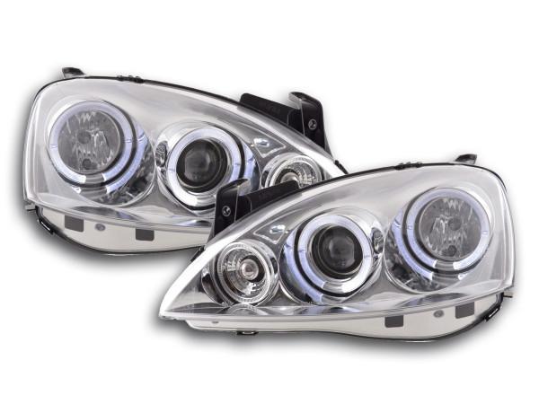 headlight Opel Corsa C Yr. 01-06 chrome