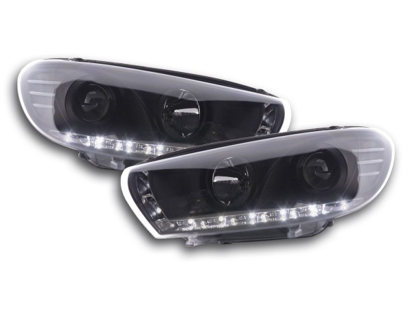 Daylight headlight VW Scirocco 3 type 13 Yr. 08- black