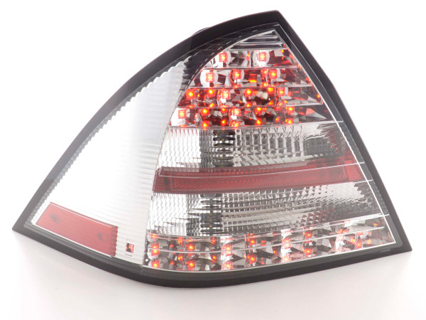 Led Taillights Mercedes C-Class type W203 saloon Yr. 05-07 chrome
