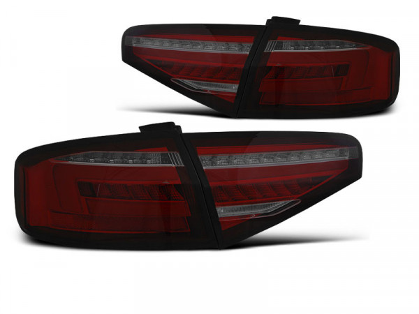 Led Bar Tail Lights Red Smoke Seq Fits Audi A4 B8 12-15 Sedan Oem Bulb