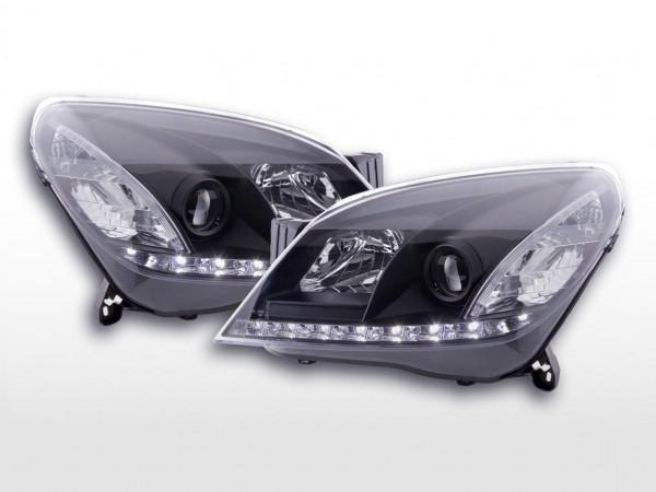 Daylight headlight Opel Astra H Yr. 04-10 black RHD