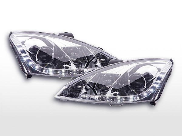 Daylight headlight Ford Focus 3/4/5-door. Yr. 01-04 chrome