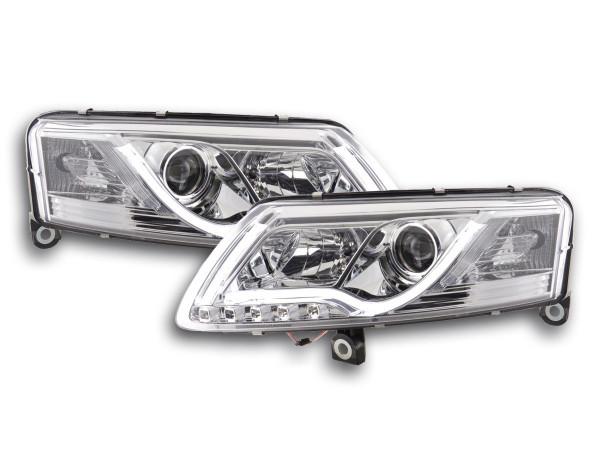 Daylight headlight Set Audi A6 type 4F Yr. 04-08 chrome RHD