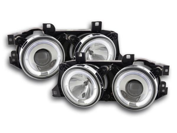 headlight BMW serie 5 type E34 Yr. 88-94 chrome