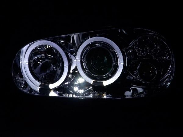 Angel Eyes headlights VW Golf 4 type 1J Yr. 98-03 chrome