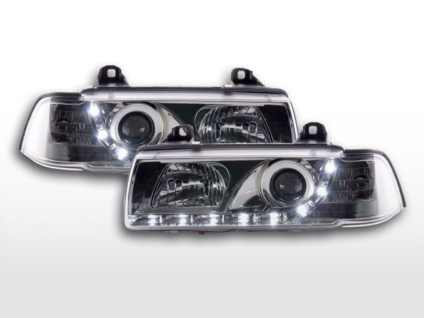 DRL Daylight Headlight BMW serie 3 E36 saloon/Touring chrome RHD