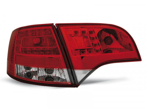Led Tail Lights Red White Fits Audi A4 B7 11.04-03.08 Avant