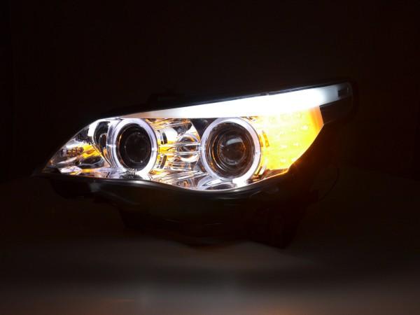Headlight BMW serie 5 E60/E61 Yr. 03-07 chrome