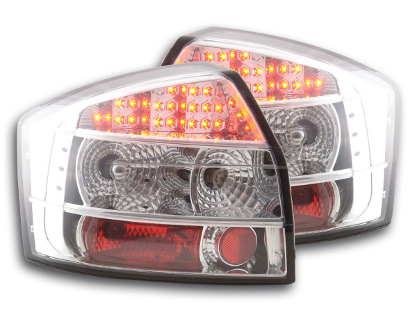 Led Taillights Audi A4 saloon type 8E Yr. 01-04 chrome