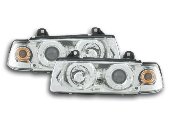 headlight BMW serie 3 saloon type E36 Yr. 92-98 chrome