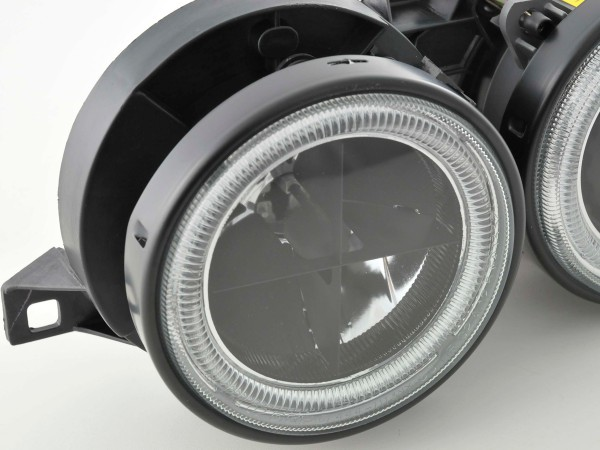 Angel Eye headlight BMW serie 3 type E30 2/4 door. Yr. 87-91 black