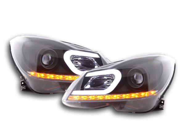Daylight headlight Mercedes C-class W204 Yr. 11-14 black