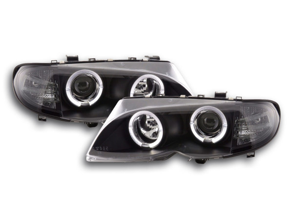 Headlight BMW serie 3 E46 saloon/Touring Yr. 02-05 black RHD