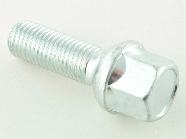 single Wheel bolt shaft length 21mm spherical collar silver M12x1,5