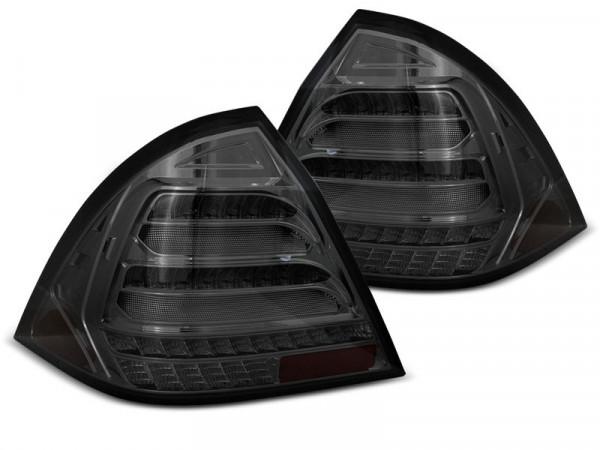 Led Bar Tail Lights Smoke Seq Fits Mercedes W203 Sedan 00-04