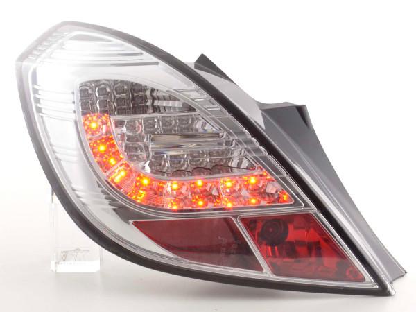Led Taillights Opel Corsa D 3-dr Yr. 06-10 chrome