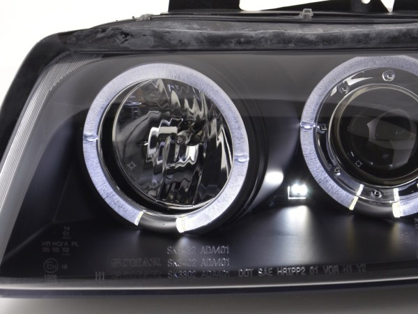 headlight Audi A4 type 8E Yr. 01-04 black