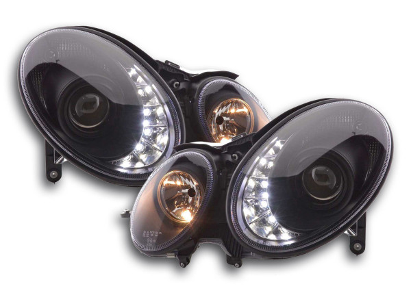 Daylight headlight Mercedes E-Classe type W211 Yr. 02-06 black