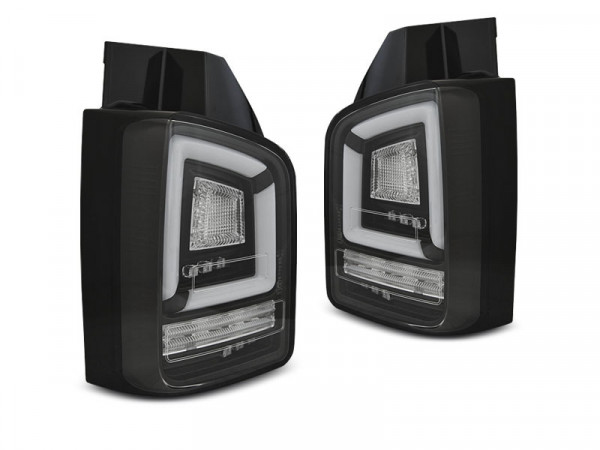 Led Bar Tail Lights Black Seq Fits Vw T6 15-19 Tr