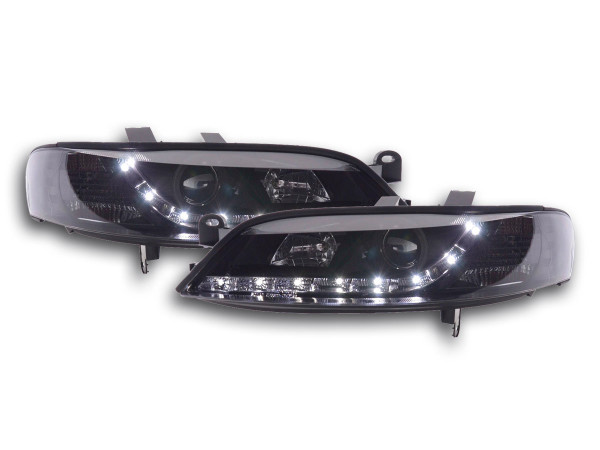 Daylight headlight Opel Vectra B Yr. 99-02 black