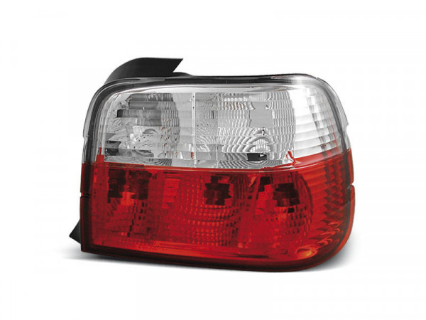 Tail Lights Red White Fits Bmw E36 12.90-08.99 Compact