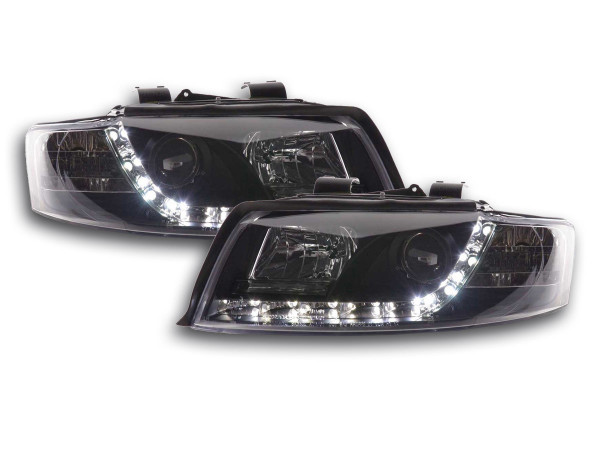 Daylight headlight Audi A4 type 8E Yr. 01-04 black
