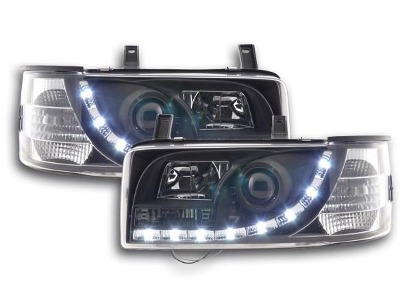 Daylight headlight VW Bus type T4 Yr. 90-03 black RHD