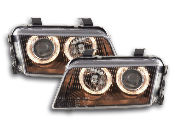 Angel Eye headlight Audi A4 type B5 Yr. 95-99 black