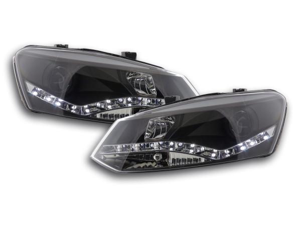 Daylight headlight VW Polo type 6R Yr. 2010- black
