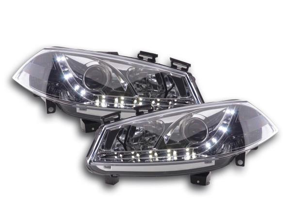 headlight Daylight Ford Fiesta Typ MK6 Yr. 03-07 chrome