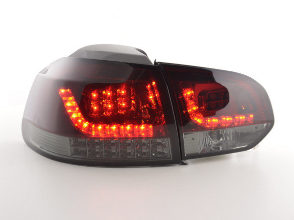 Led Taillights VW Golf 6 type 1K Yr. 2008-2012 red/black with Led indicator