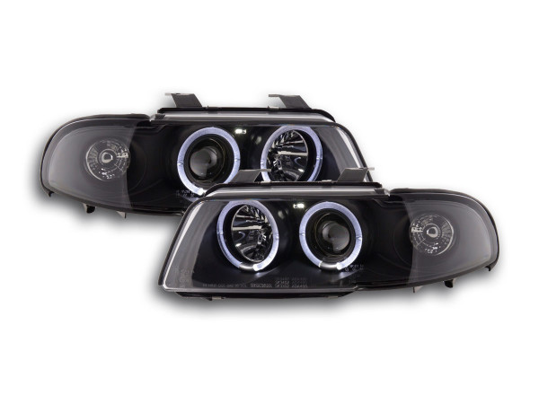 headlight Audi A4 type B5 Yr. 99-01 black