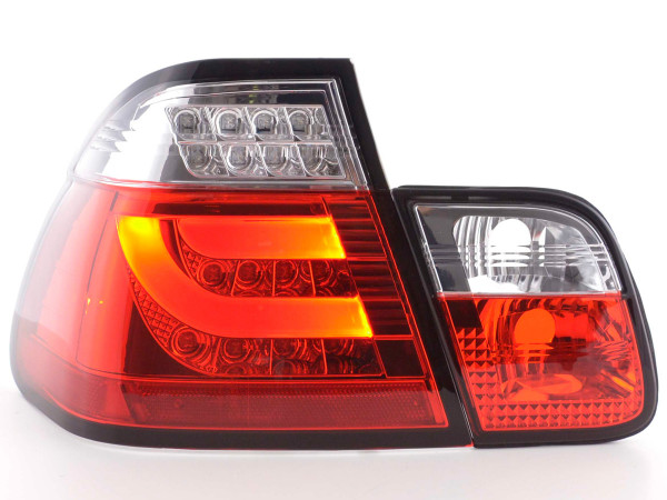 Led Taillights BMW serie 3 E46 saloon Yr. 98-01 red/clear