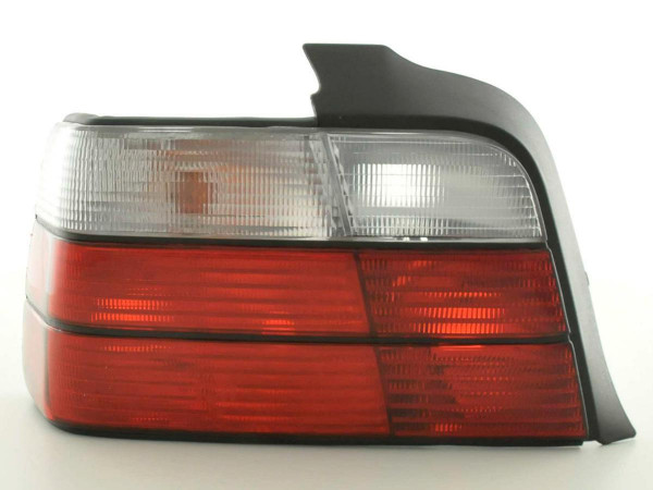 Taillights BMW serie 3 saloon type E36 Yr. 91-98 red white