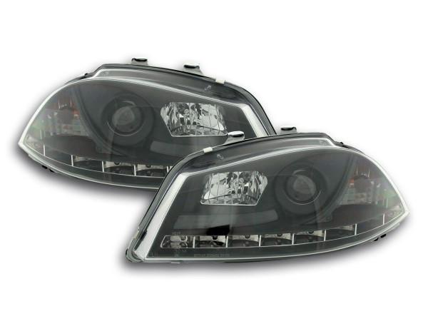 Daylight headlight Seat Ibiza type 6L Yr. 03-08 black