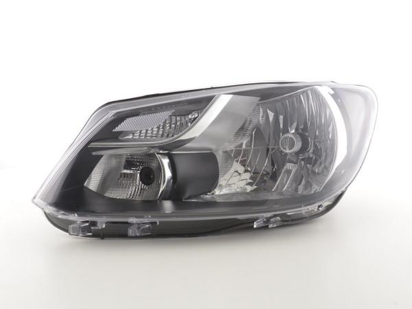 Spare parts headlight left VW Touran (GP2) Yr. 10-14 black