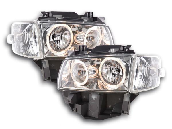 Angel Eye headlight VW Bus type T4 Yr. 97-02 chrome