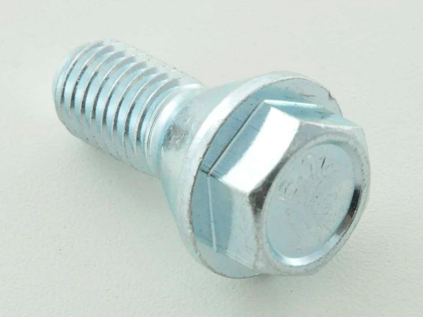 Wheel bolts Set (10 pieces), M12 x 1,5 26mm short head silver