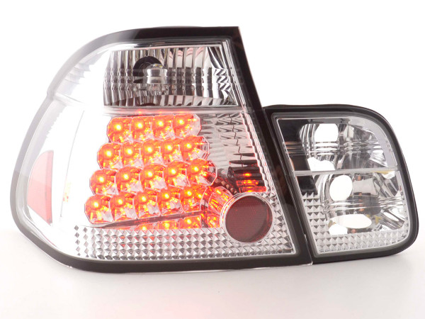 Led Taillights BMW serie 3 saloon type E46 Yr. 98-01 chrome