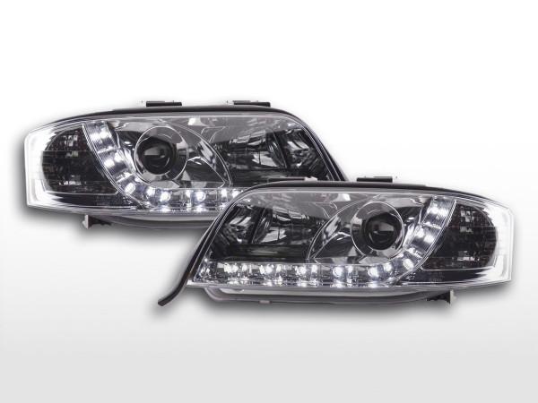 Daylight headlight Audi A6 type 4B Yr. 01-04 chrome